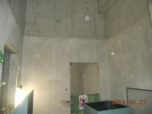 大阪市内某ポンプ施設新築 機械室の断熱・吸音内装材仕上げ工事施工前
