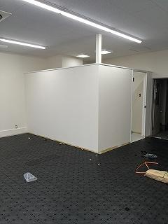 オフィス間仕切り工事及びOAフロア工事施工後