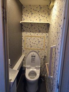 マンショントイレの改装工事 TOTO製編施工後